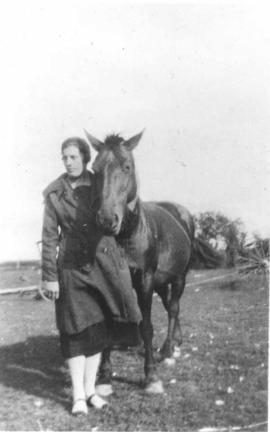 Anne Gairdner with a horse