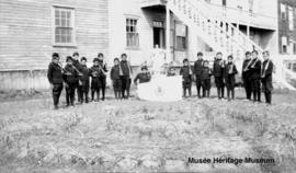 Mission school at Fort Resolution, North West Territories