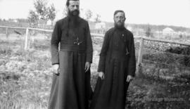 Father Pratt and Father Bousso at Fort Resolution, North West Territories