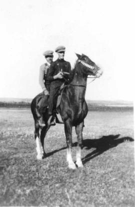 George Gairdner and Tom Bellerose on a Horse