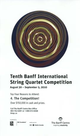 Tenth Banff International String Quartet Competition : [poster]