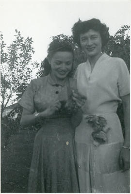Irene Prothroe and Vi Powlan