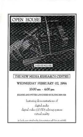"""Open House : The New Media Research Centre"" : [poster]"