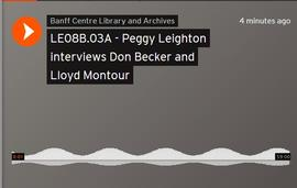 Peggy Leighton interviews Don Becker and Lloyd Montour