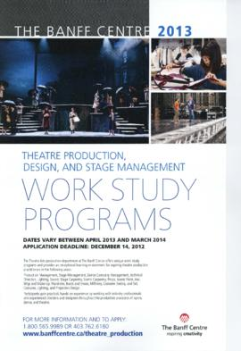 "EA 174 - ""The Banff Centre : Theatre Production, Design, and Stage Management Work Study Programs"" : [poster]"