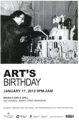 Art's Birthday : Art's Birthday : celebrate 1,000,049 years with music, art, performances and all kinds of free cake