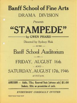 """Stampede by Gwen Pharis"" : [poster]"