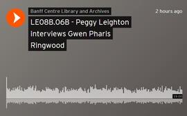 Peggy Leighton interviews Gwen Pharis Ringwood