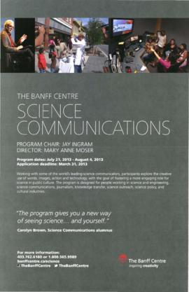 The Banff Centre Presents : Science Communications