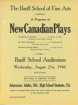 """A Program of New Canadian Plays"" : [poster]"