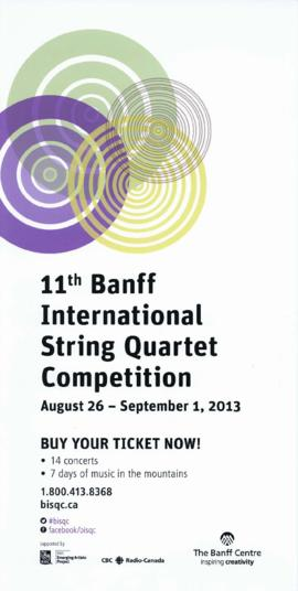 11th Banff International String Quartet Competition : [poster]