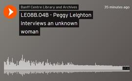 Peggy Leighton interviews an unknown woman