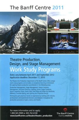 Theatre Production, Design and Stage Management Work Study Programs