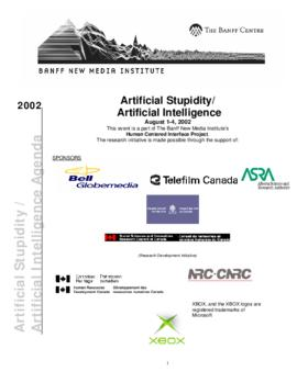 """Artificial Stupidity / Artificial Intelligence"" : [agenda]"
