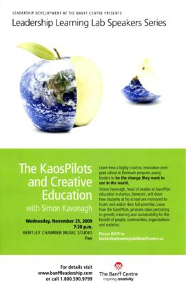 Leadership Learning Lab Speakers Series: The Kaos Pilots and Creative Education with Simon Kavanagh.
