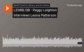 Peggy Leighton interviews Leona Patterson
