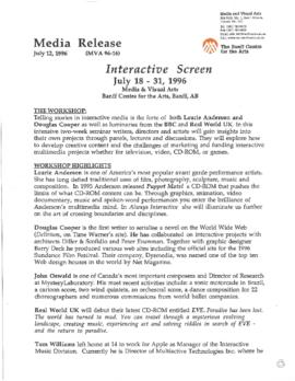 """Interactive Screen : Beyond Television"" : [press release]"