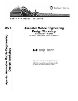 """Am-I-Able Mobile Engineering Design Workshop"" : [agenda]"
