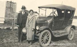 Mrs. Skinner and new automobile