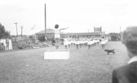Students doing aerobics, Red Deer