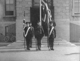 Cadet colour guard at Royal Military College