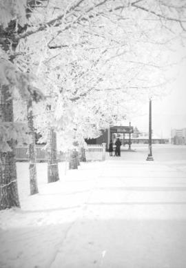 Ross street in winter, Red Deer