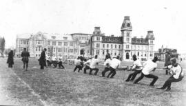 Tug of war event at Royal Military College