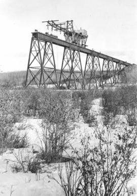 Railway bridge construction, Red Deer