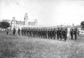 Inspection of honour guard at Royal Military College