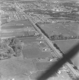 Aerial view of Red Deer