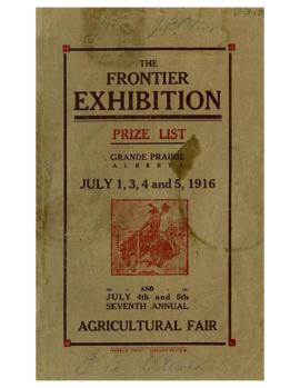 The Frontier Exhibition - Prize List