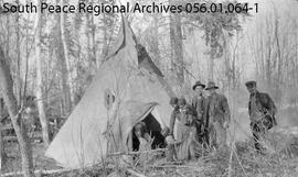 """Indian Teepee Near Snipe Lake"""