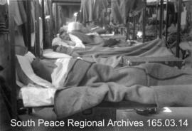 Soldiers in bunks, Prairie Command Display.