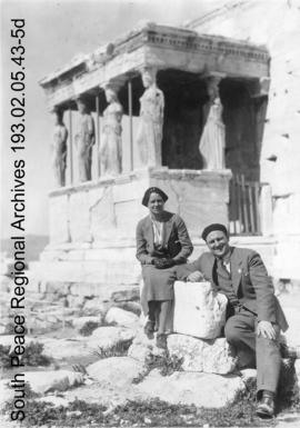 Herman and Beatrice Trelle in Greece.