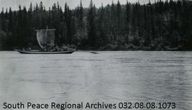York Boat on Athabasca River