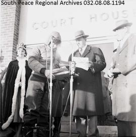 Henry McCullough and Mayor J. C. Mackie