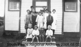 Currie School and children, Alberta.