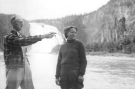Bob Krantz and Bernice Trelle at Kinuso Falls, British Columbia.