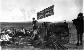 Travellers With the Union Jack Flying