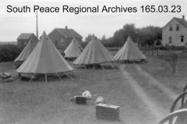 Tents with the Prairie Command Display.