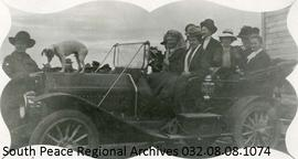 First Motor Car on Grande Prairie