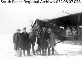 The first air-mail flight, Alberta.