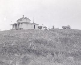 House at E.A. Daggett's Biscoby Ranch on the hill, near Lineham, AB.