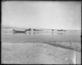 Men with Sleds and Dogs, Canoe