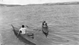 Unidentified Inuit Men in Kayaks