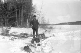 Unidentifed Man with Sled Dogs