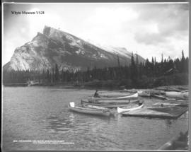 Twin Peaks and Boats, Bow River, Banff