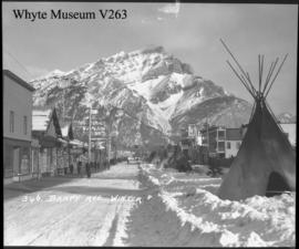 346. Banff Avenue, winter (teepees)