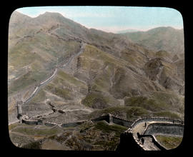 People ascending Great Wall towards Nankow Pass.