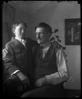 Elliott Barnes and son Findlay